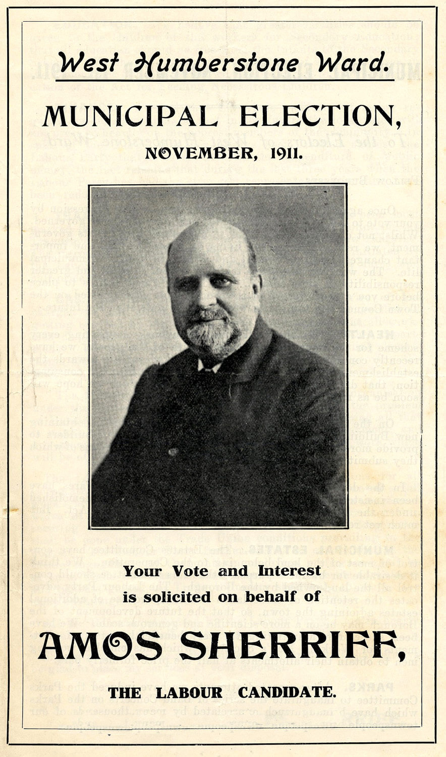Amos Sherriff election campaign flyer 1911 -