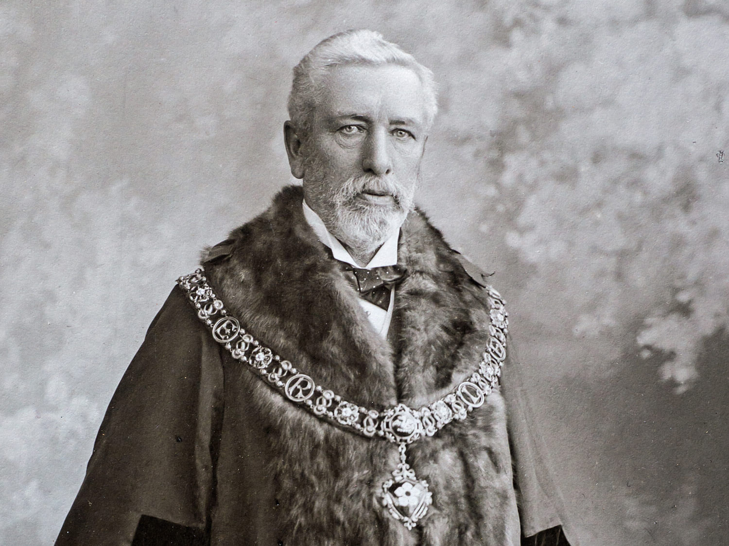 Edward Wood as Mayor in 1888 -
