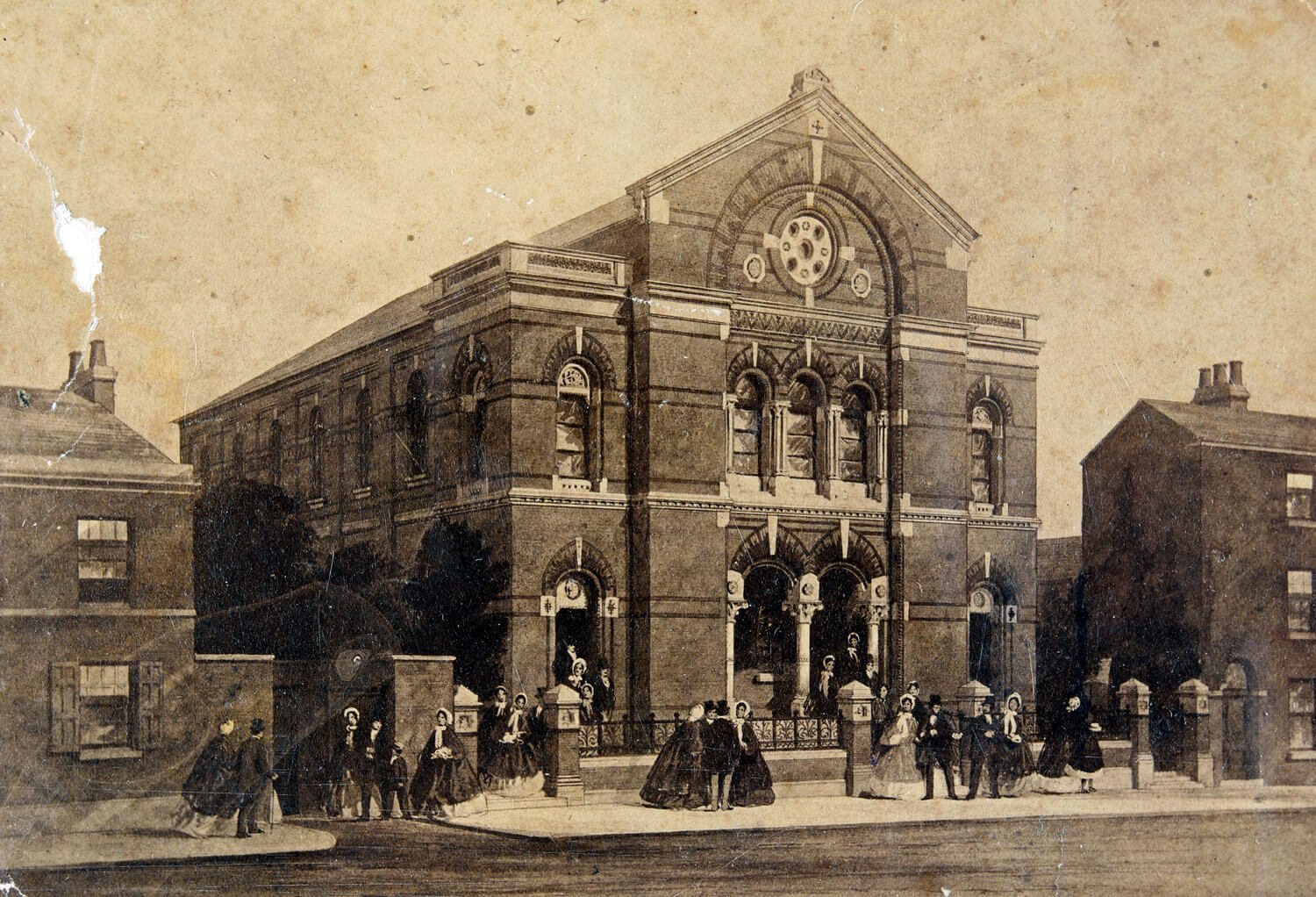 Oxford Street Congregational Chapel in Victorian times - Leicestershire Record Office