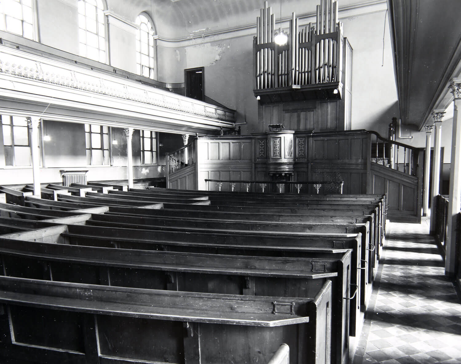 Interior of the Congregational Chapel - Leicestershire Record Office
