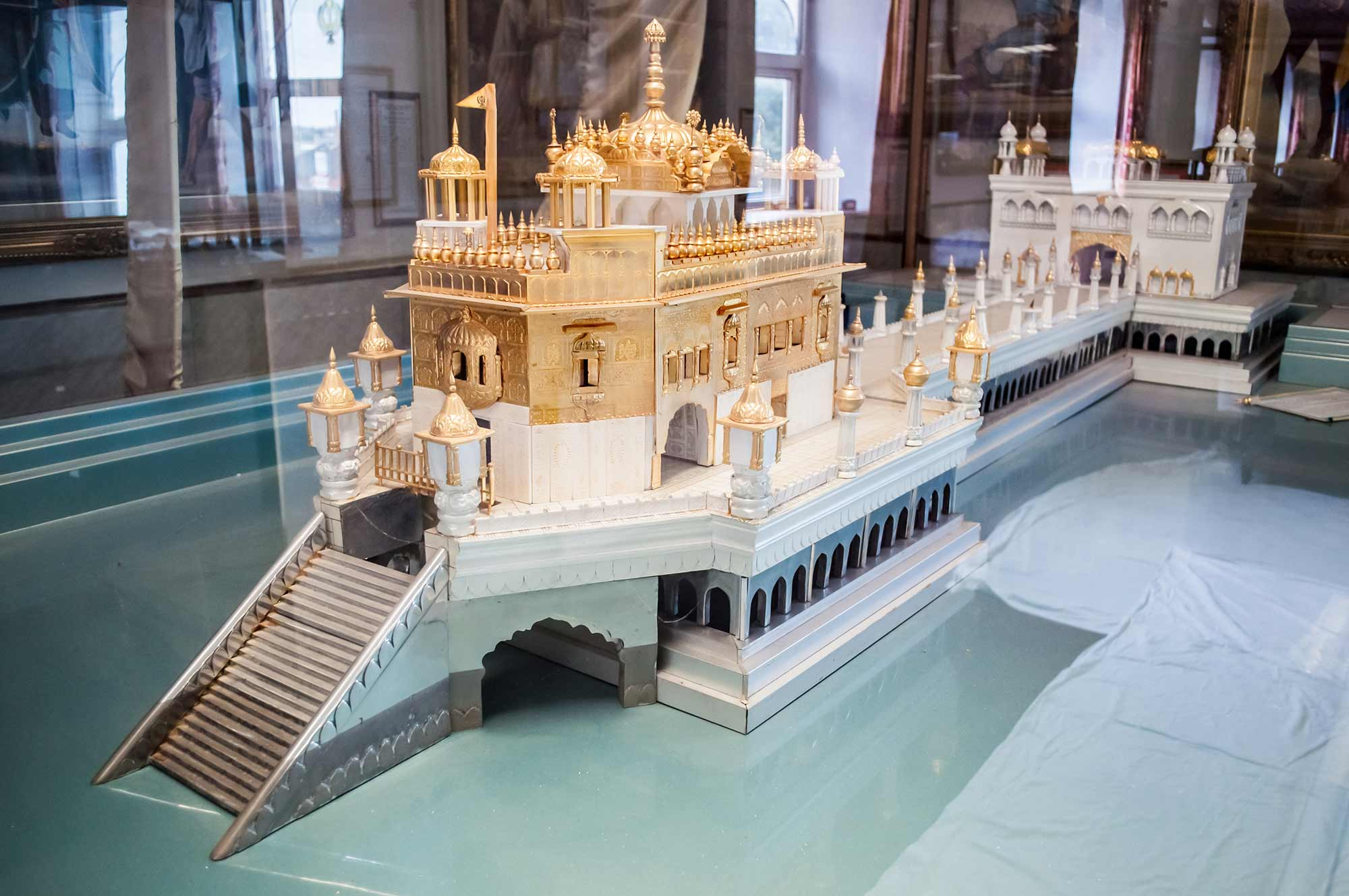 A beautiful scale model of the Golden Temple in Amritsar -