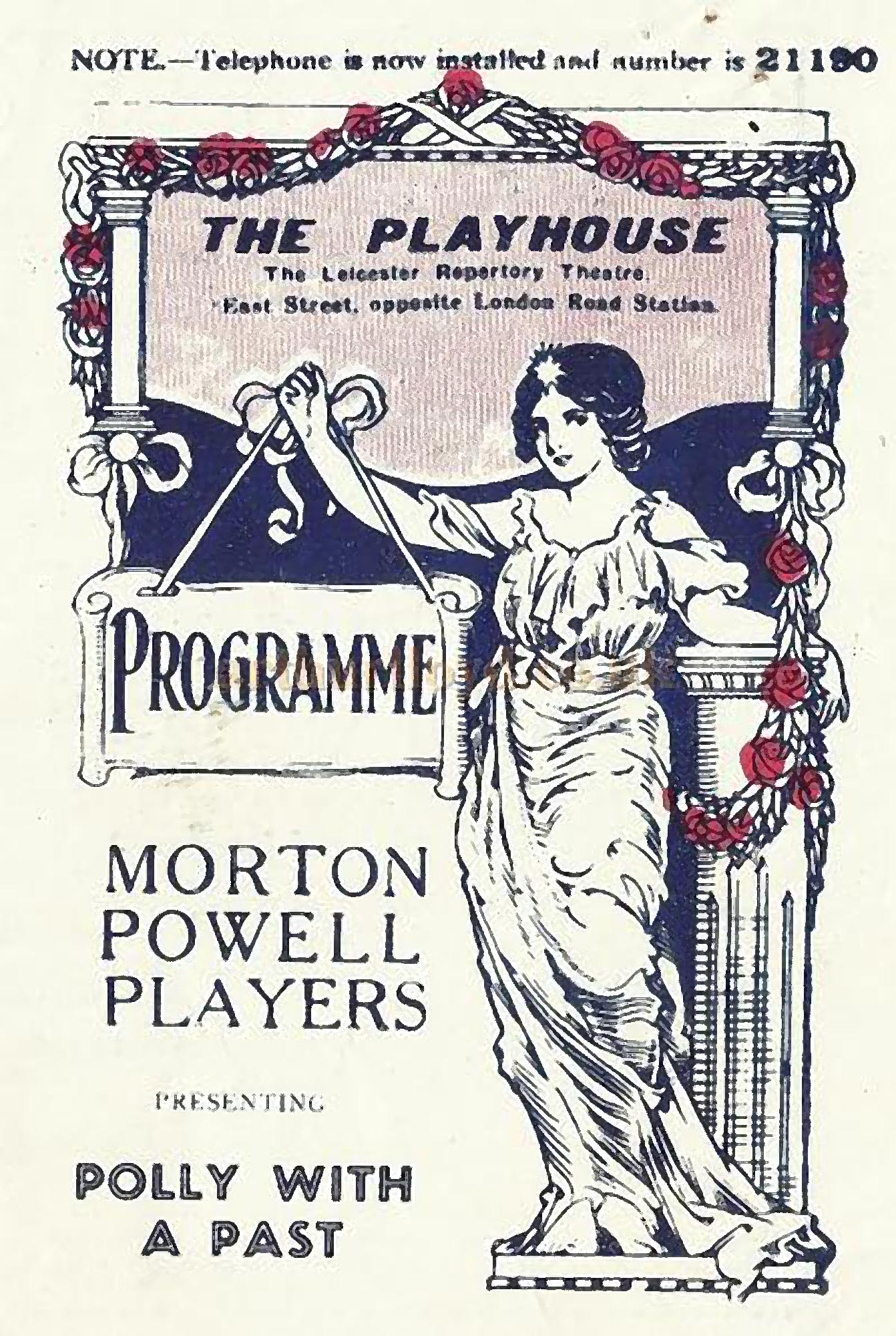 An early programme for The Playhouse Theatre - David Garratt and arthurlloyd.co.uk