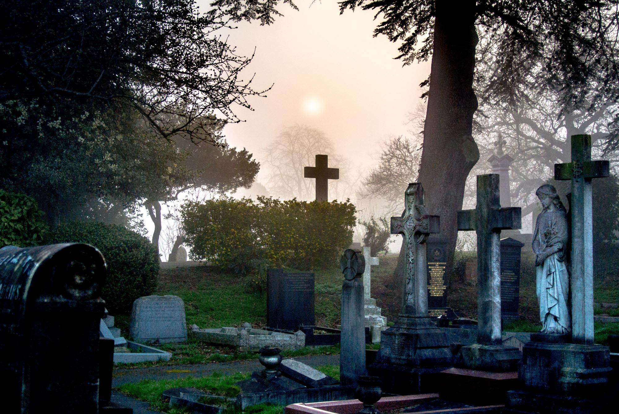 Gravestones on a misty morning - Andy McQuillan