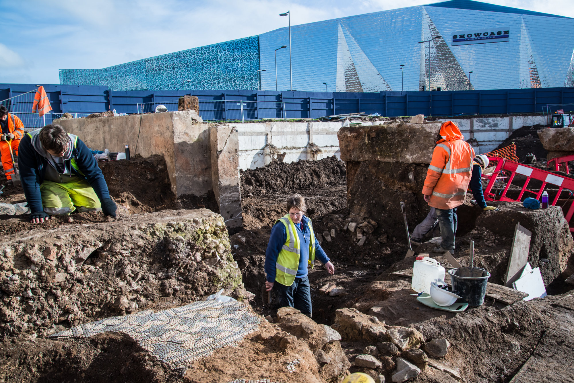 Archaeological evidence of Roman Leicester is still being found, this excavation near Highcross Street took place in 2017 -