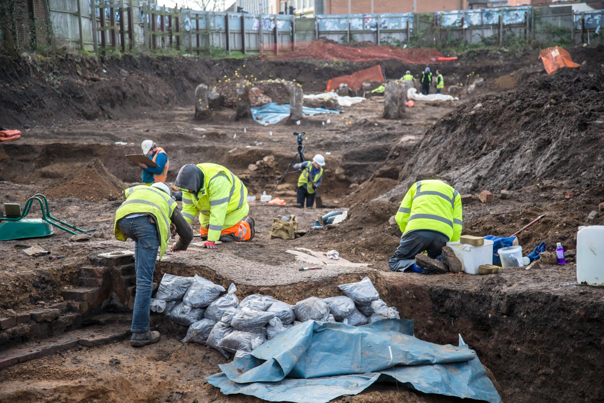 The archaeological dig seen here took place in 2017 was very close to the original Vine Street dig site -