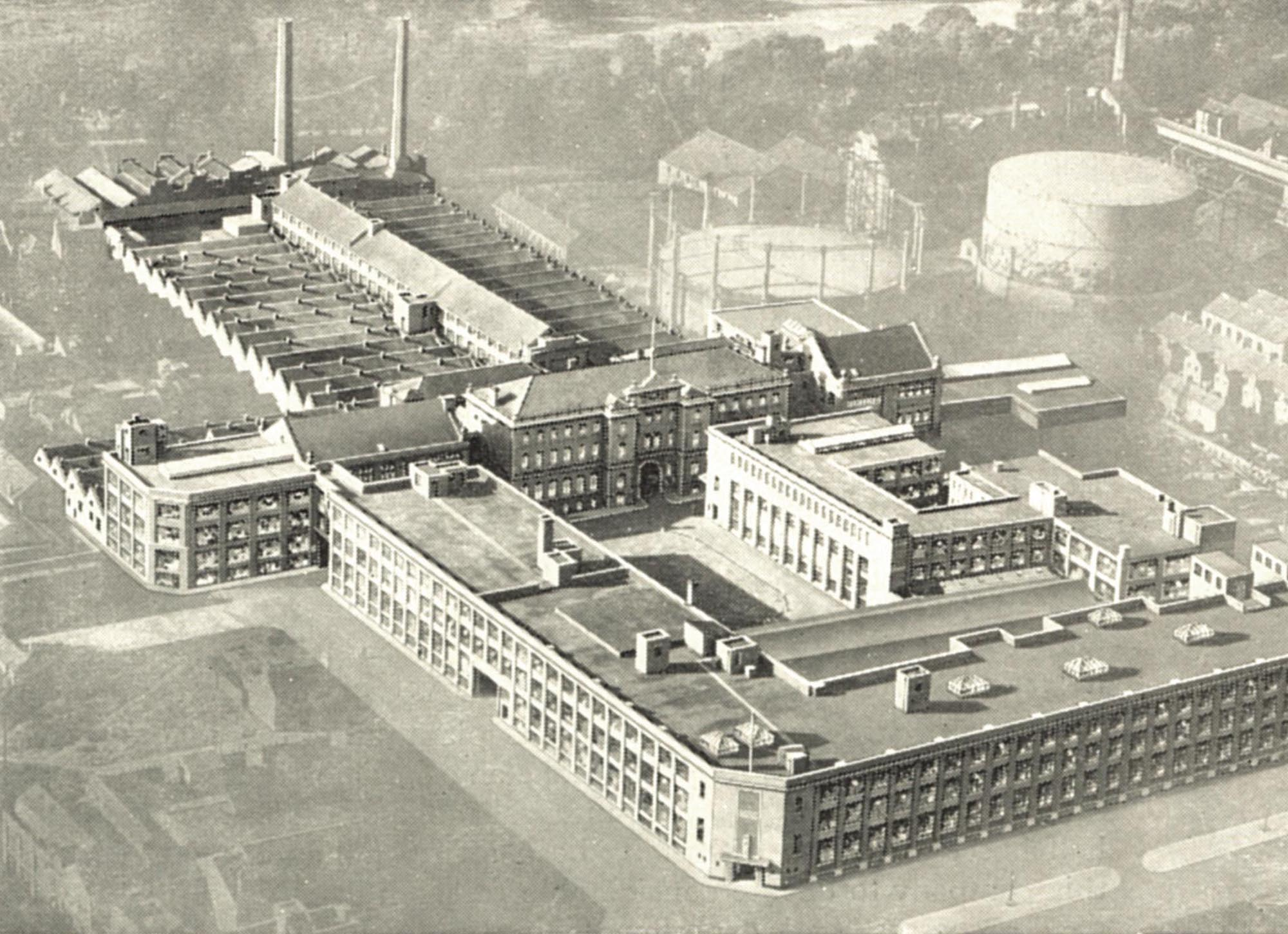 St Margaret's Works. From an article on Corah in 'Leicester Official Handbook 1954' -