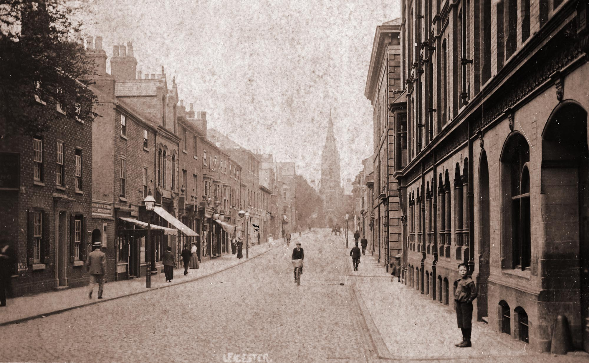 King Street c.1900 - Leicestershire Record Office