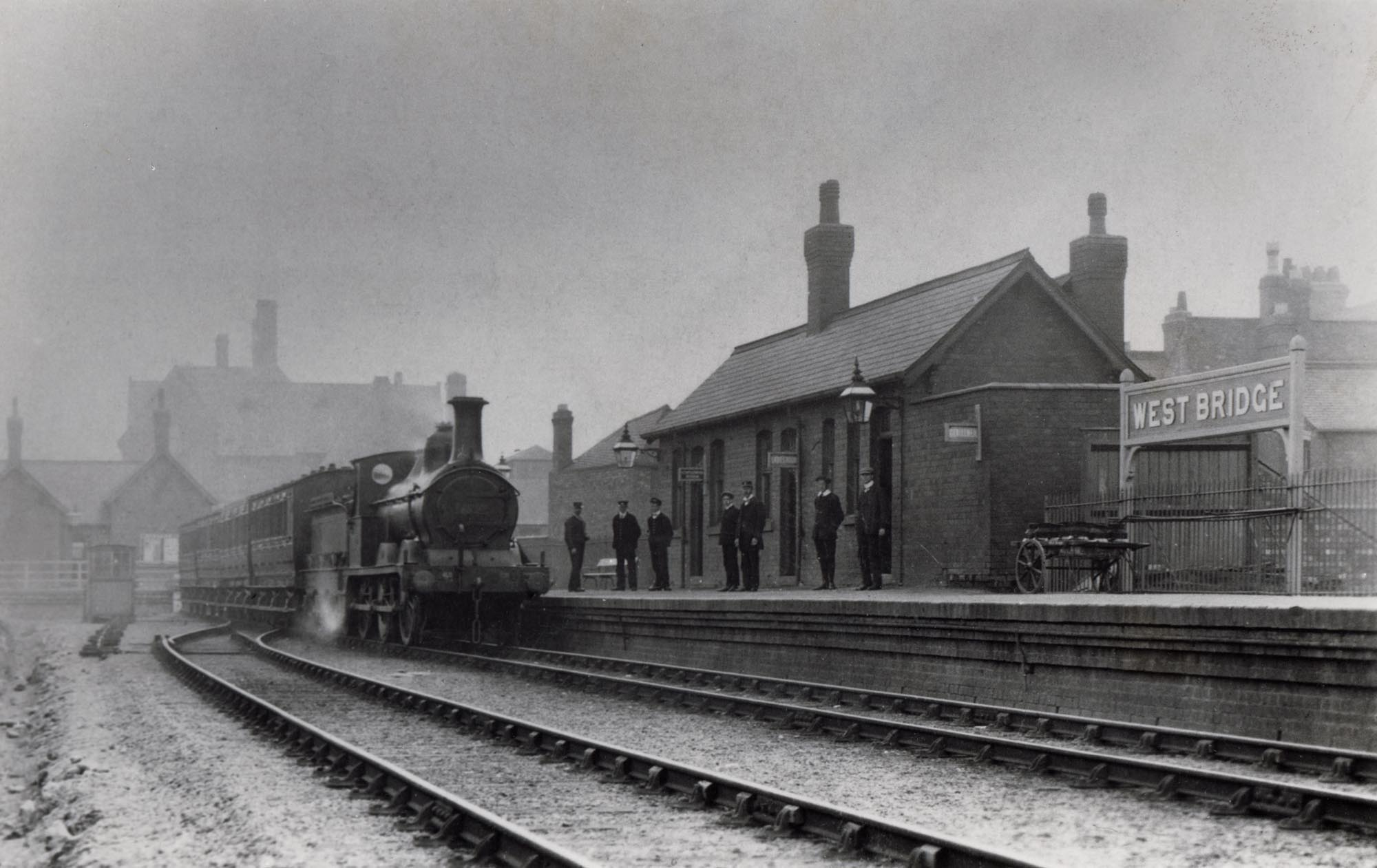 The second West Bridge Station, opened in 1893 -