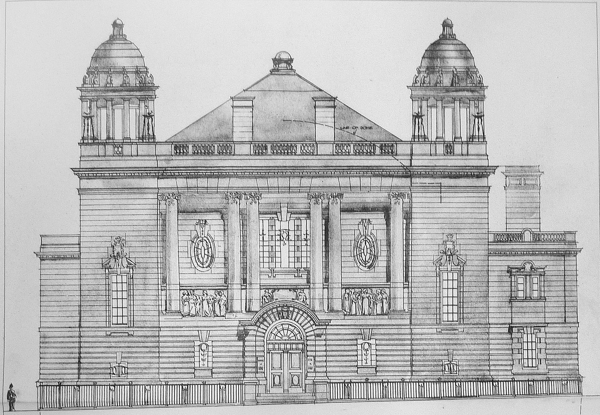 Architectural plans for the building - Leicestershire Record Office