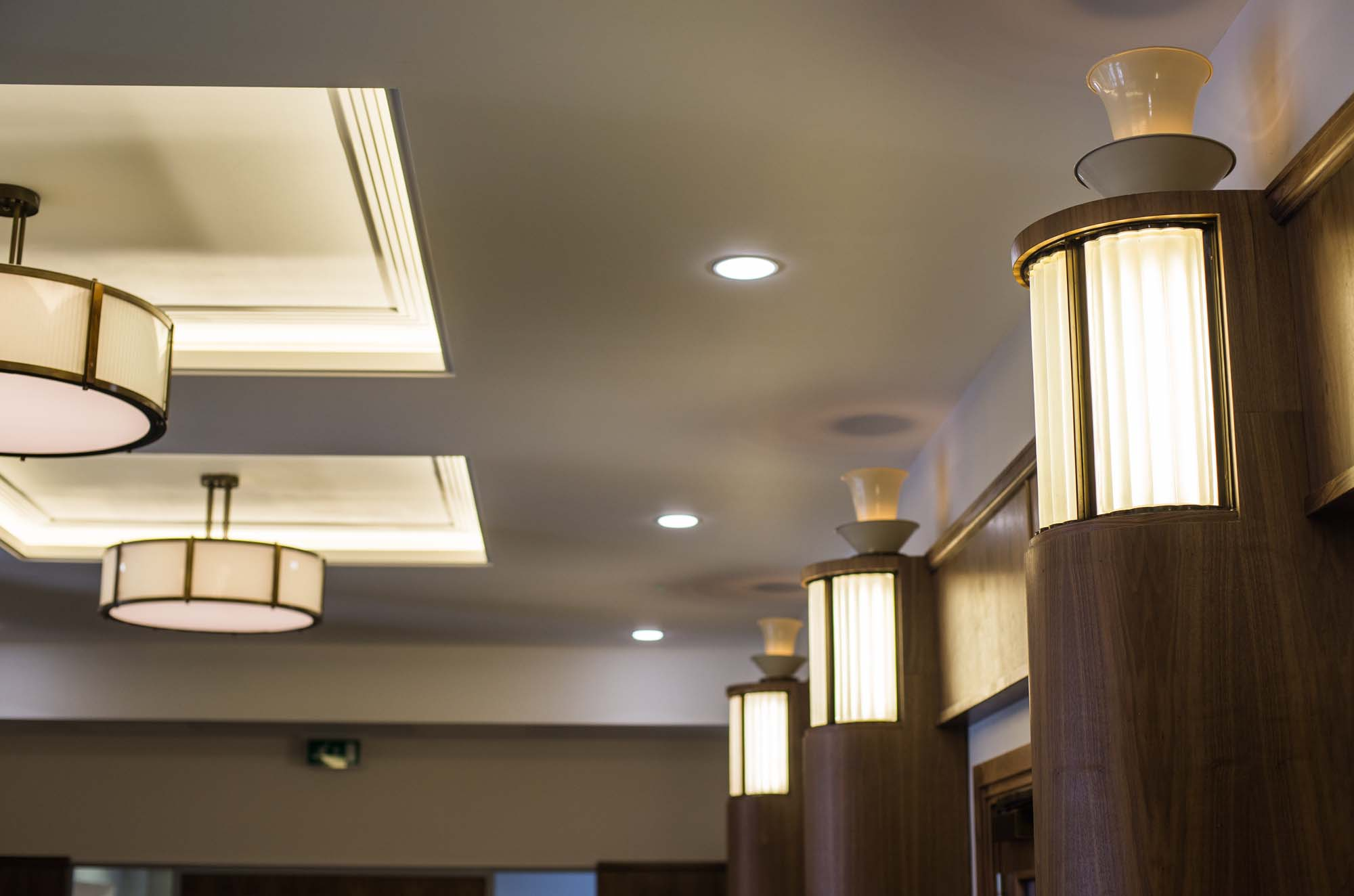 The interior of City Hall with Art Deco fittings and fixtures -