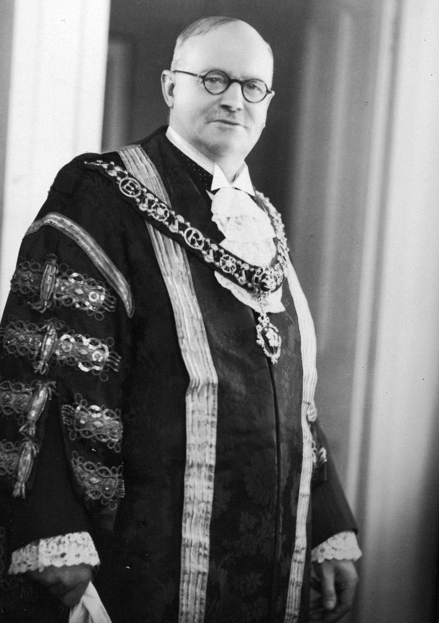 Lord Mayor, Councillor Frank Acton, who opened the building in 1938 -