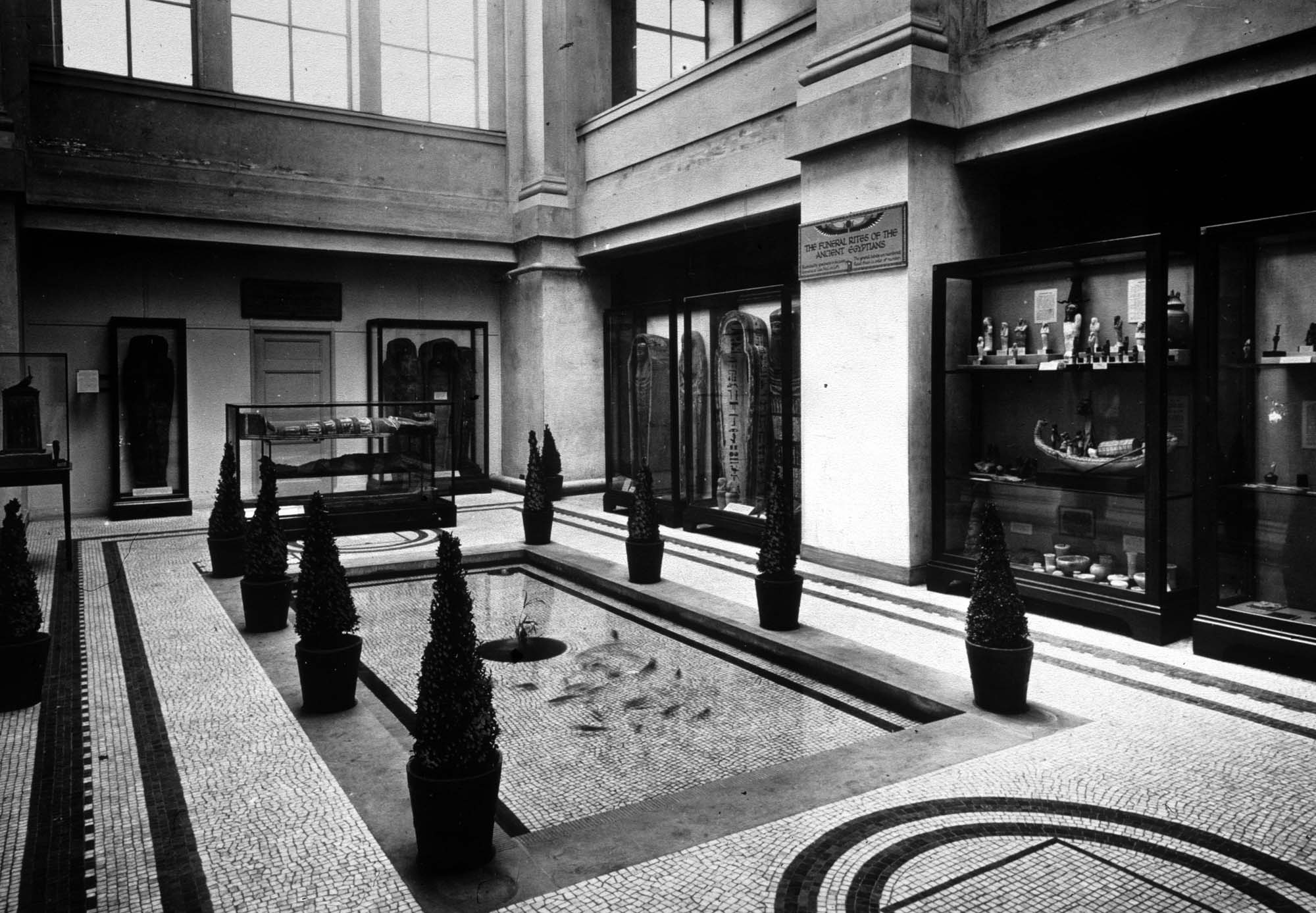 The Fish Pool and Egyptian display, 1930s -