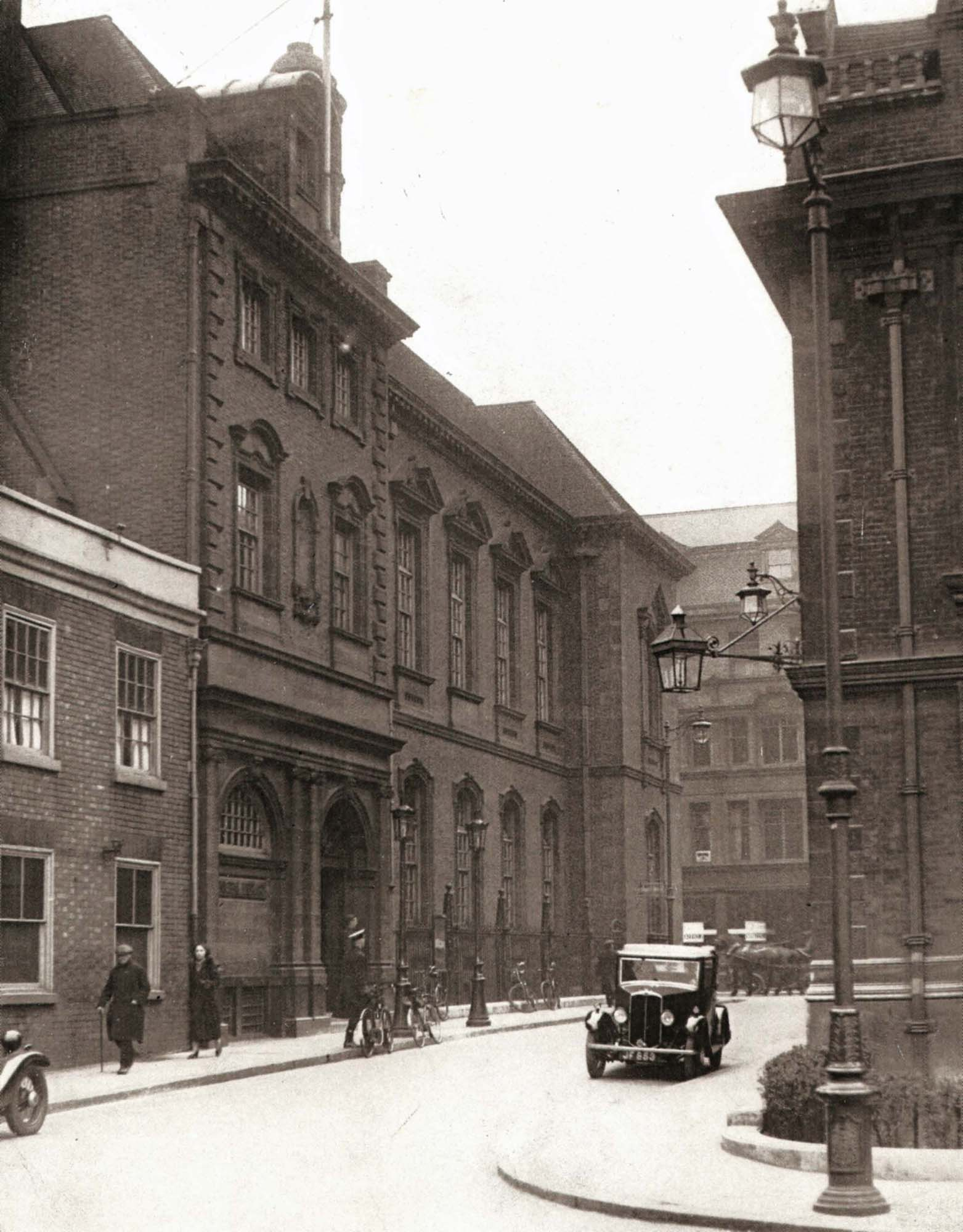 The Library and Bishop Street in 1930 -