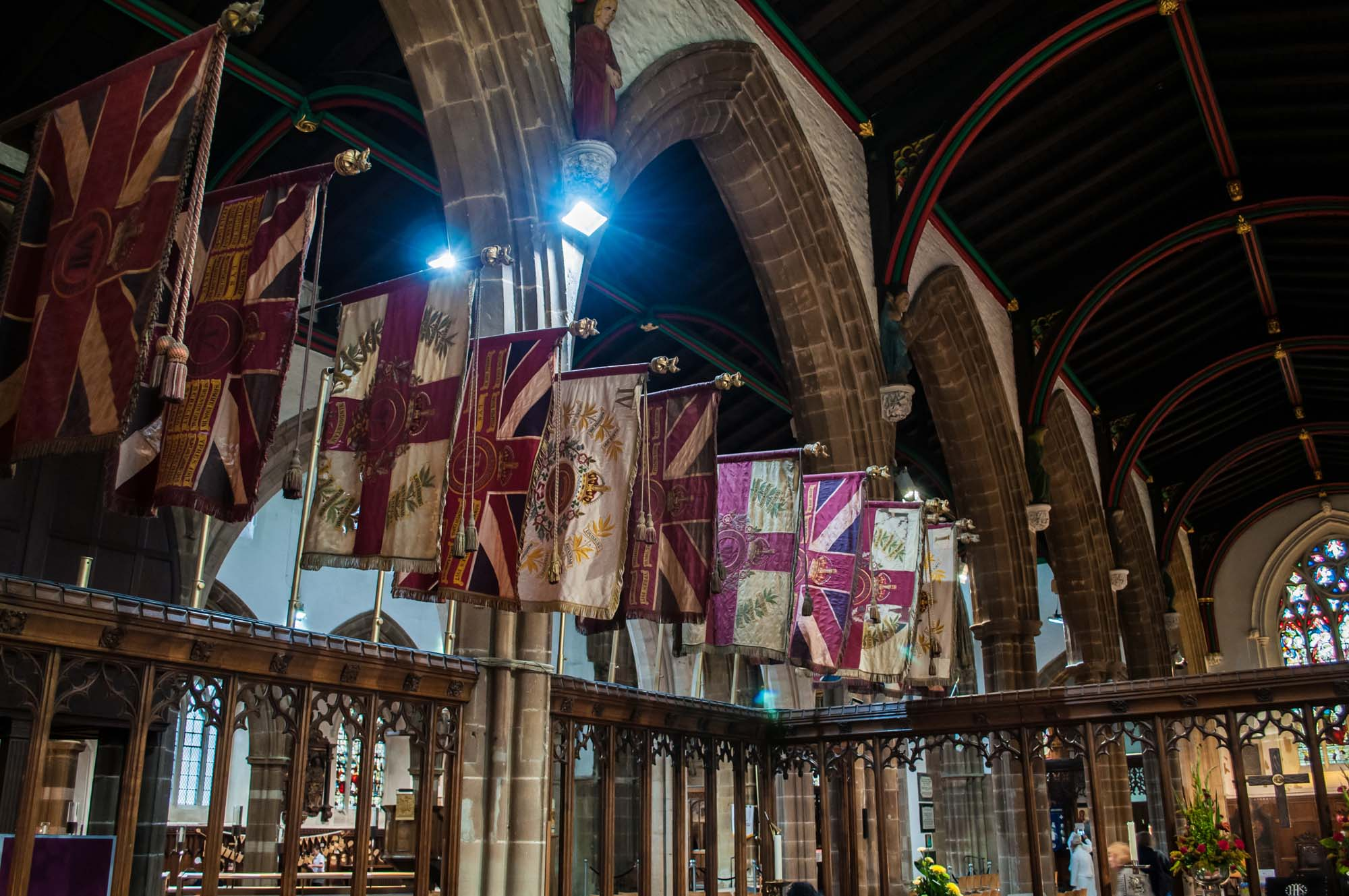 The Leicestershire Regimental Chapel inside the Cathedral -