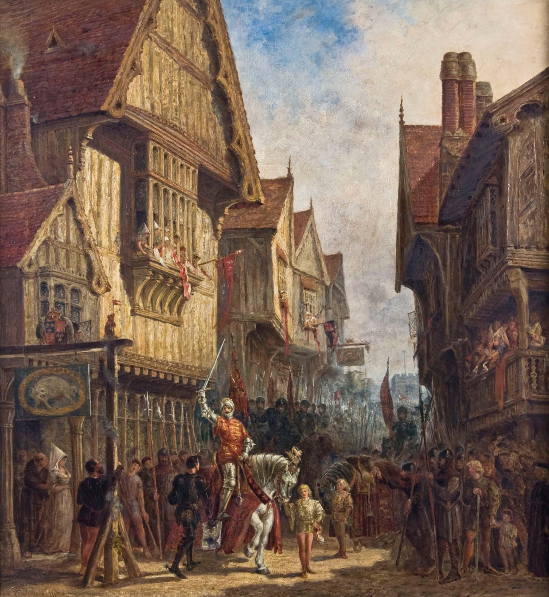 'Richard III outside the Blue Boar Inn' J Fulleylove, 1880 -