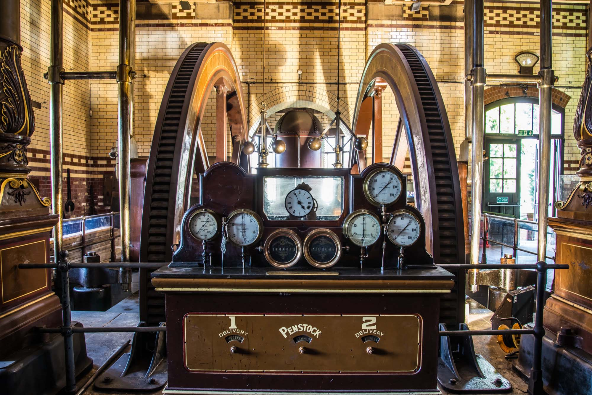 An instrument panel, part of the beam engines -