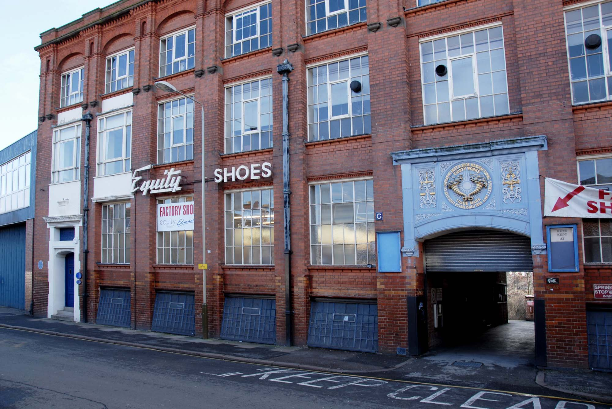 Equity Shoes in 2009, just before the building was redeveloped into residential apartments -