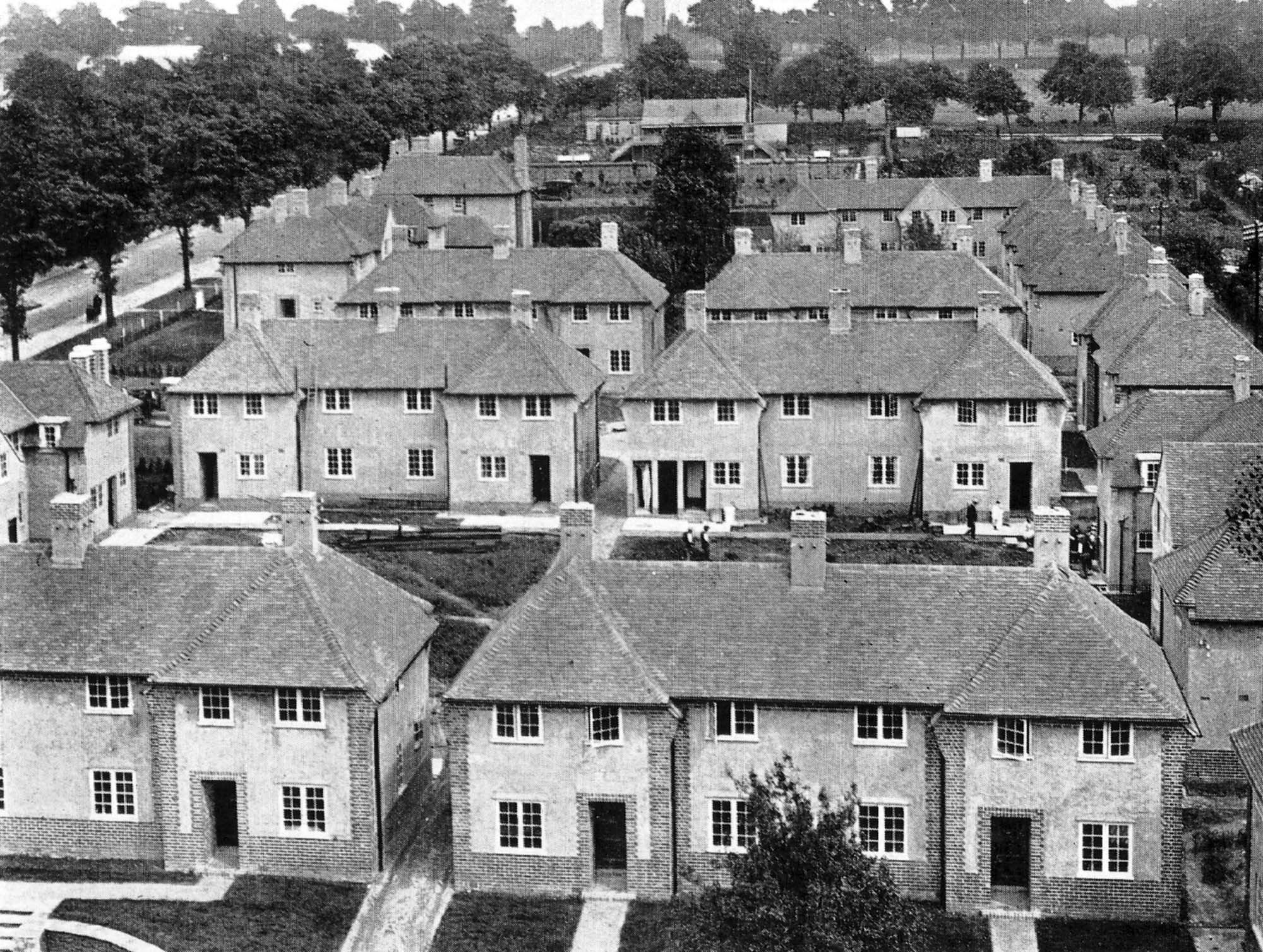 The 'firemen's houses' that surrounded Central Station, the Victoria Park War Memorial is in the far distance. Many of the houses still remain - Malc Tovey