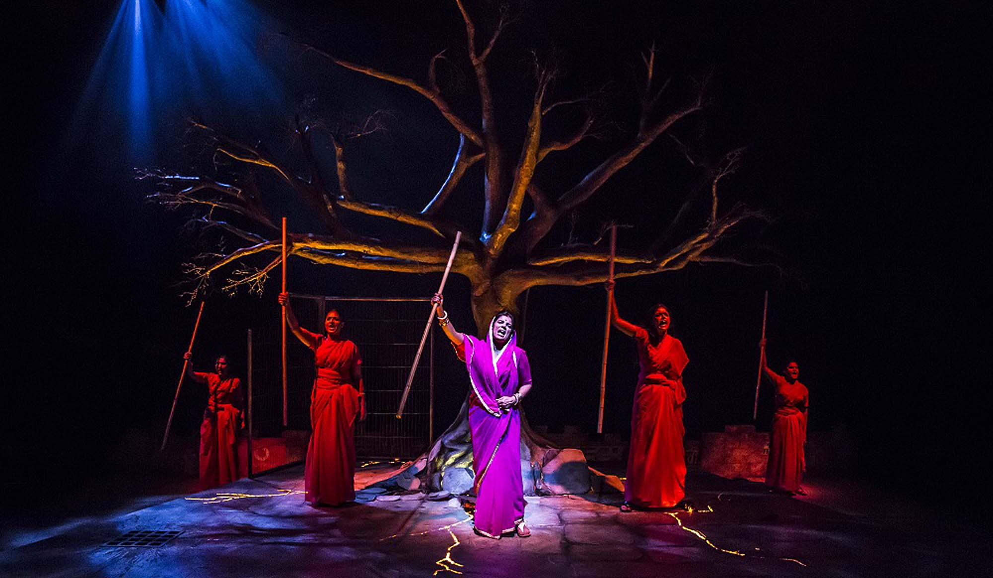 A scene from the in house production Pink Sari Revolution - Curve, Pamela Raith