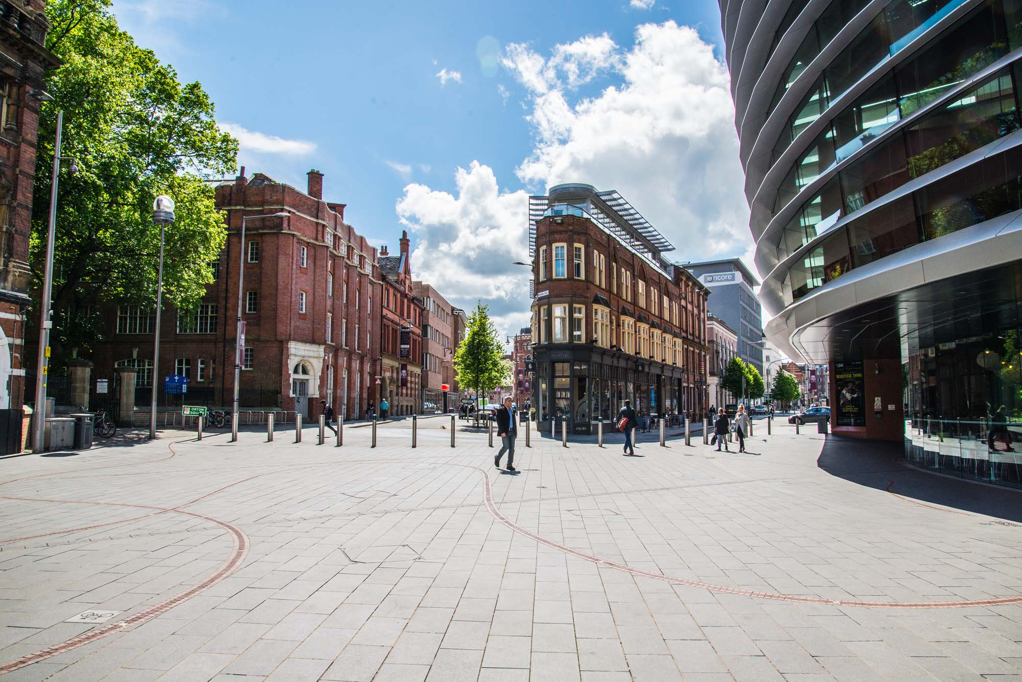 Curve, right, sits at the heart of the Cultural Quarter -