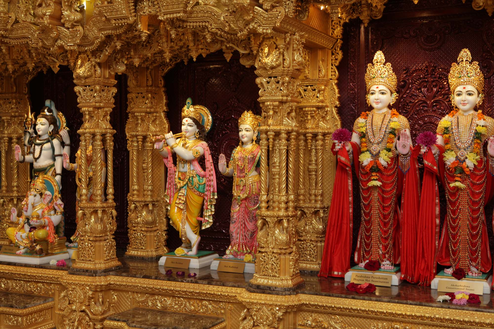 Inside the mandir - BAPS Mandir