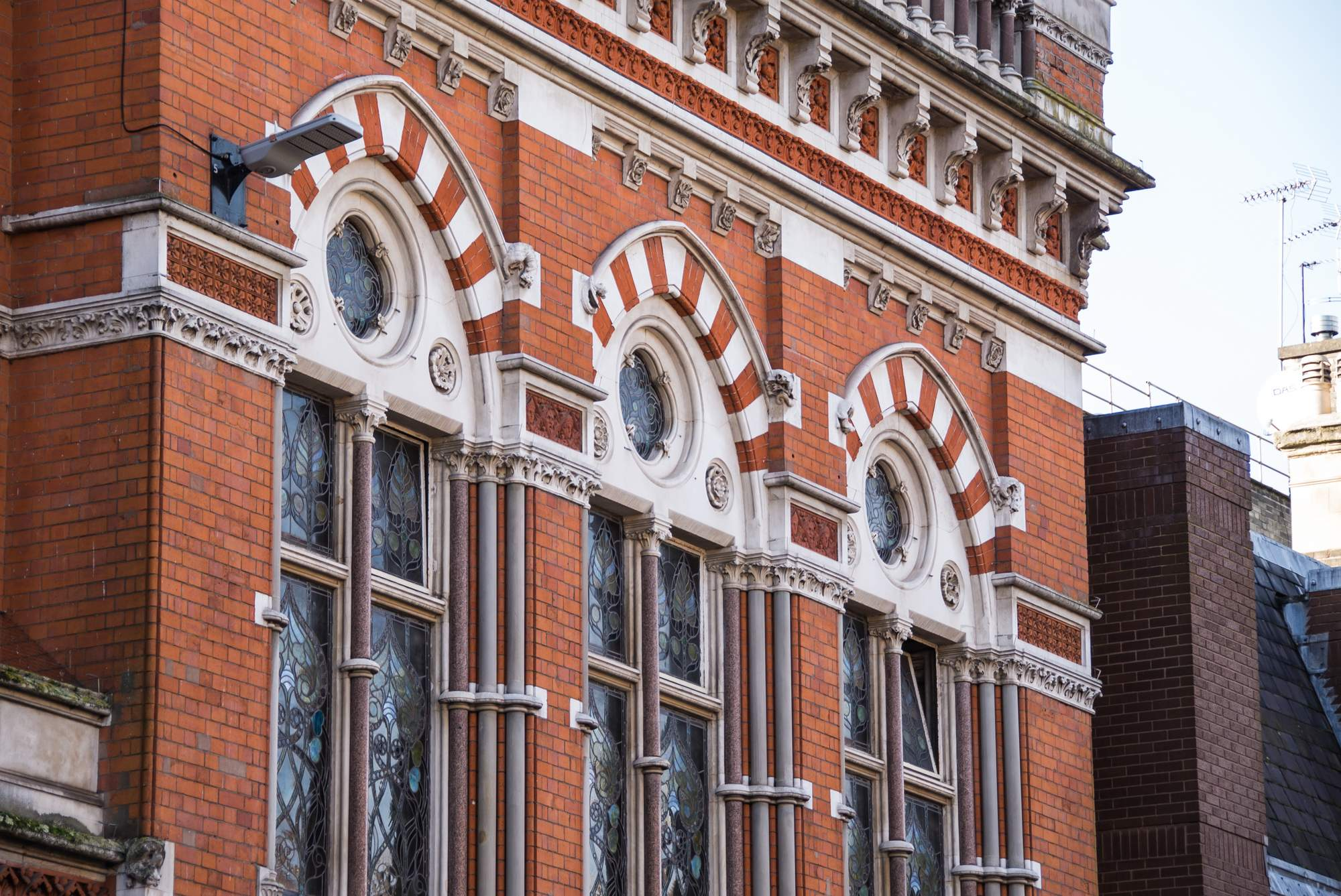 The ornate brickwork is a key feature of the design -