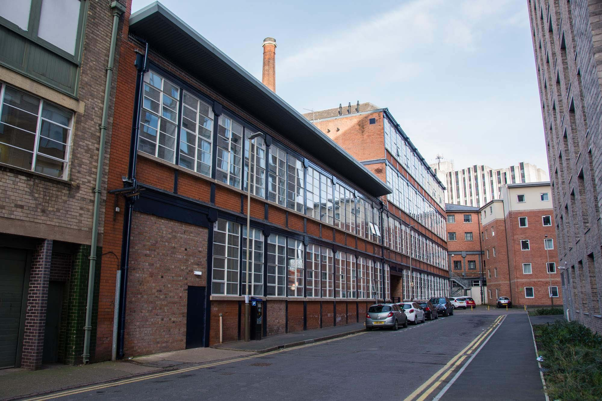 The iron frame factory looking from Henshaw Street -