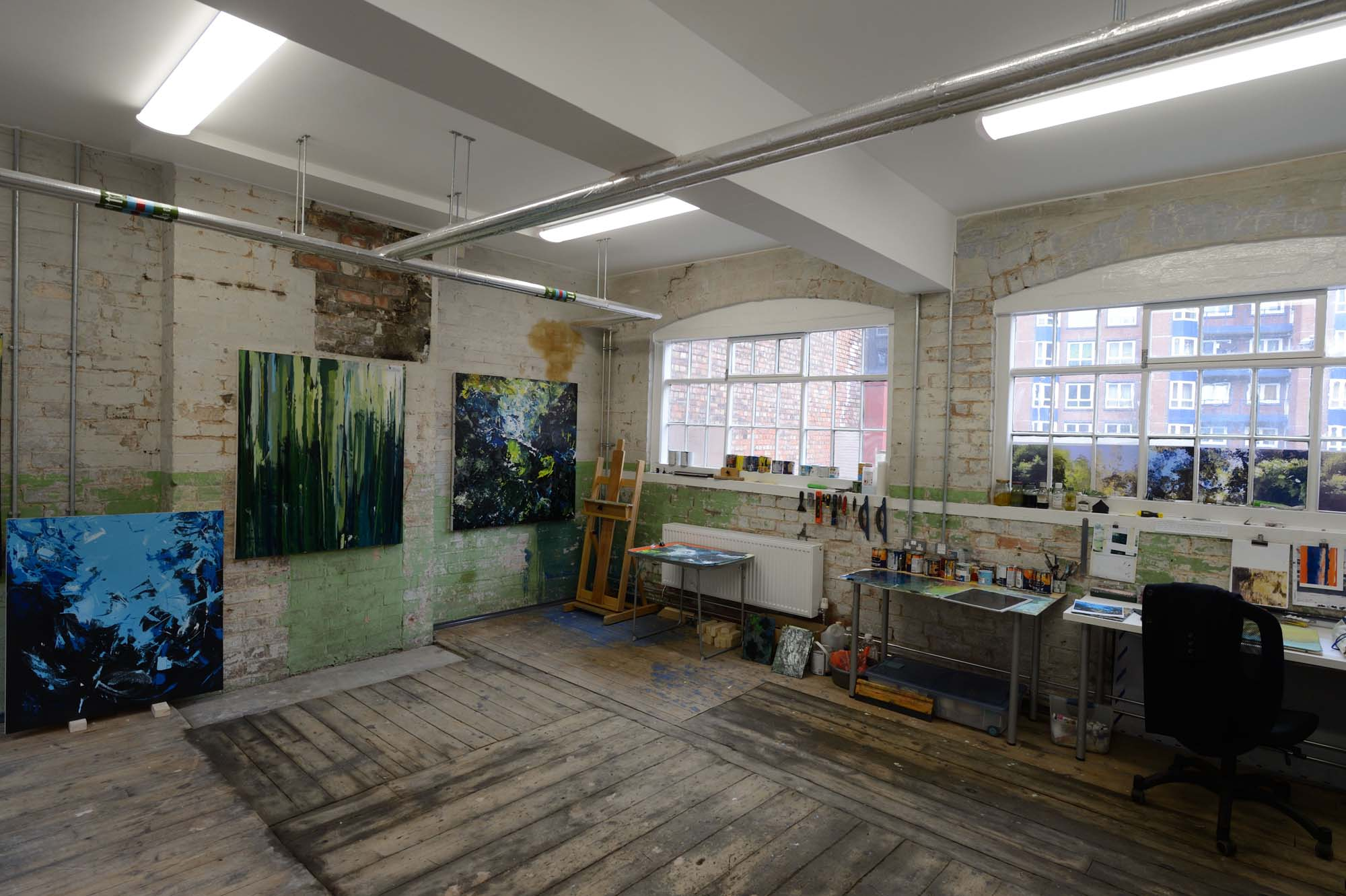 An artist's studio space - Makers Yard