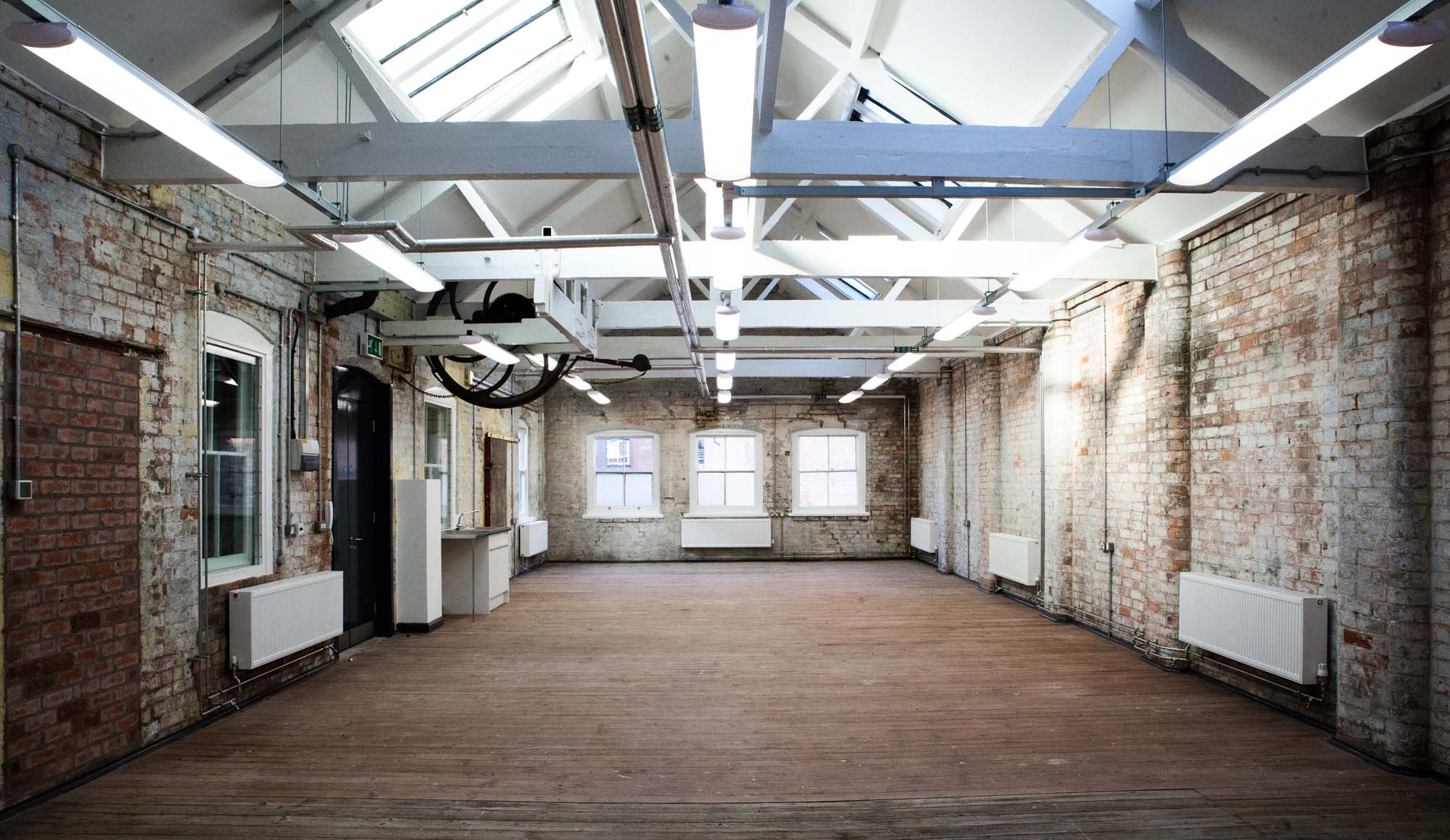 Inside rooms are light and spacious – perfect for working artists - Makers Yard