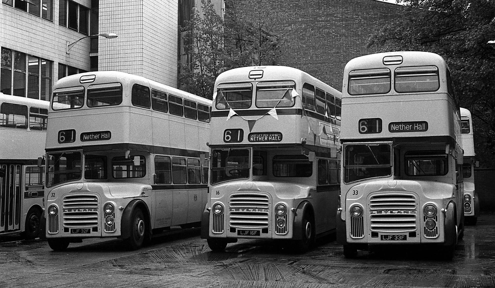 The rear yard of the bus depot where the buses were parked in narrow bays - Leicester Transport Heritage Trust, Rob Haywood and Keith Wood