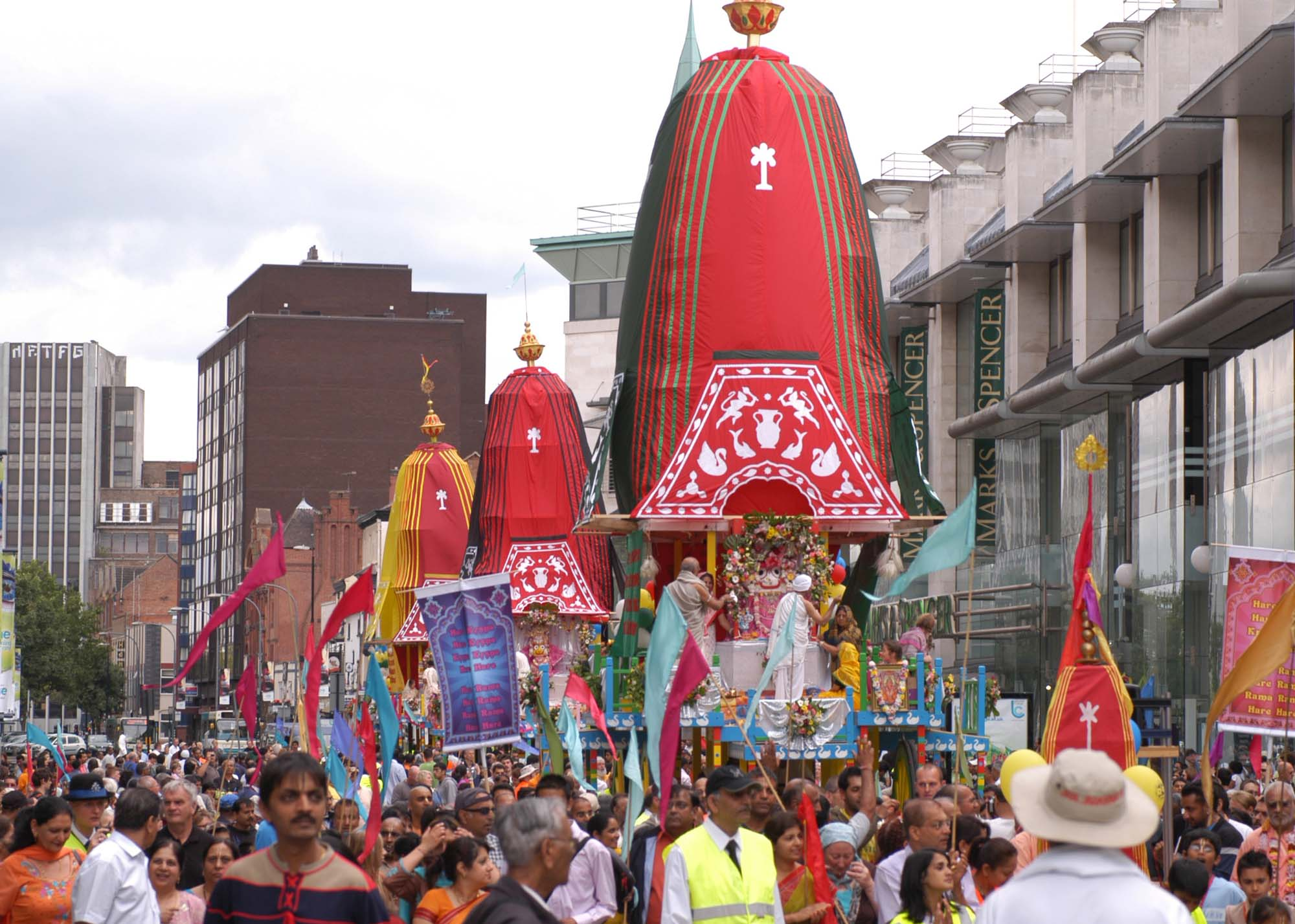 Rathayatra parade in Leicester, 2008 -