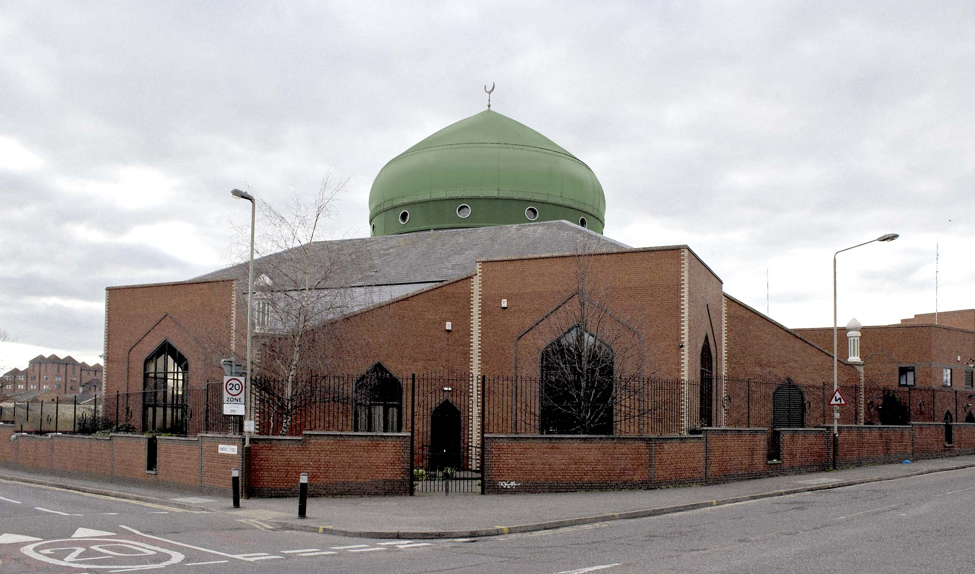 The Central Mosque is on Conduit Street in Leicester -