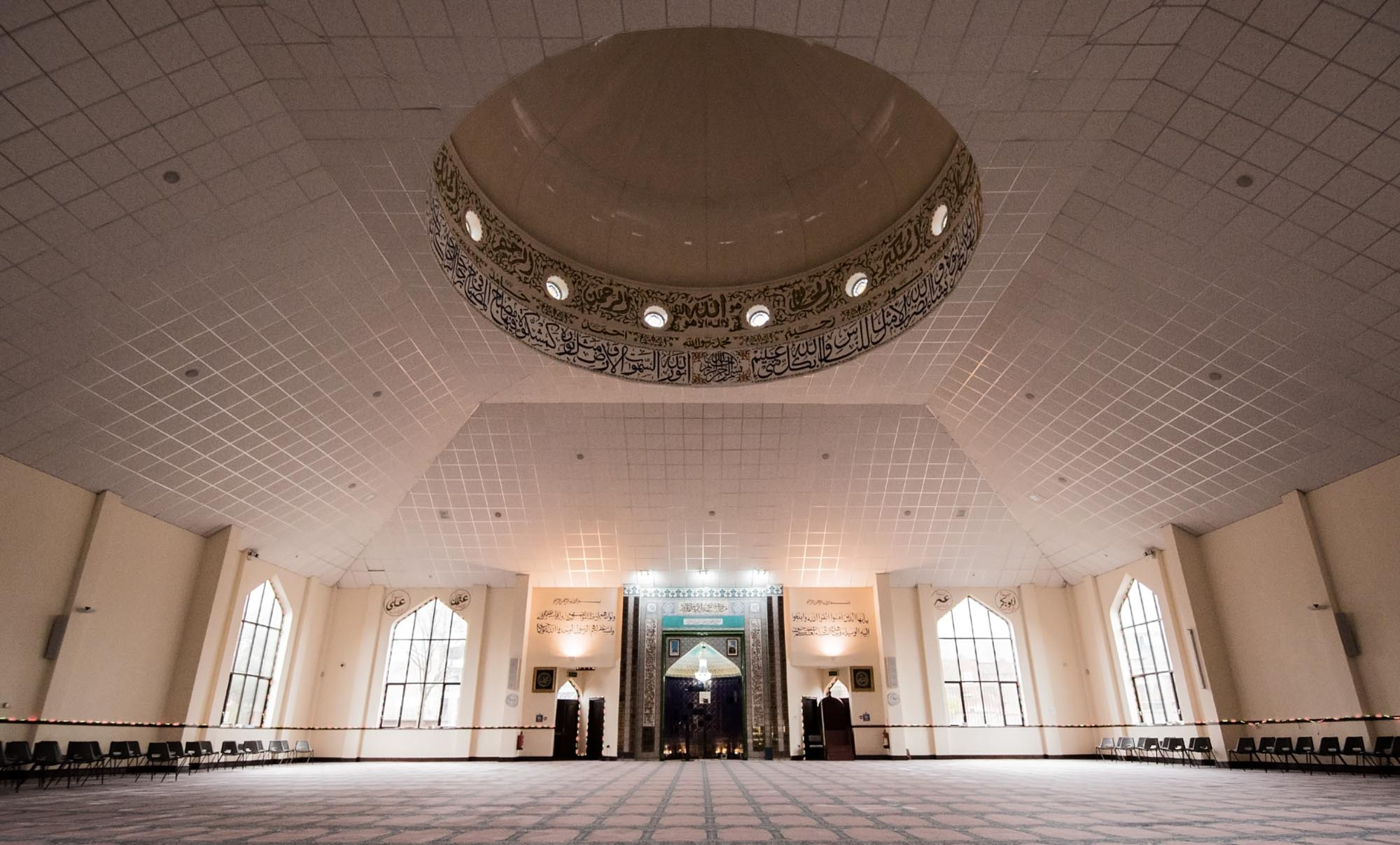 The impressive interior showing the inside of the dome -