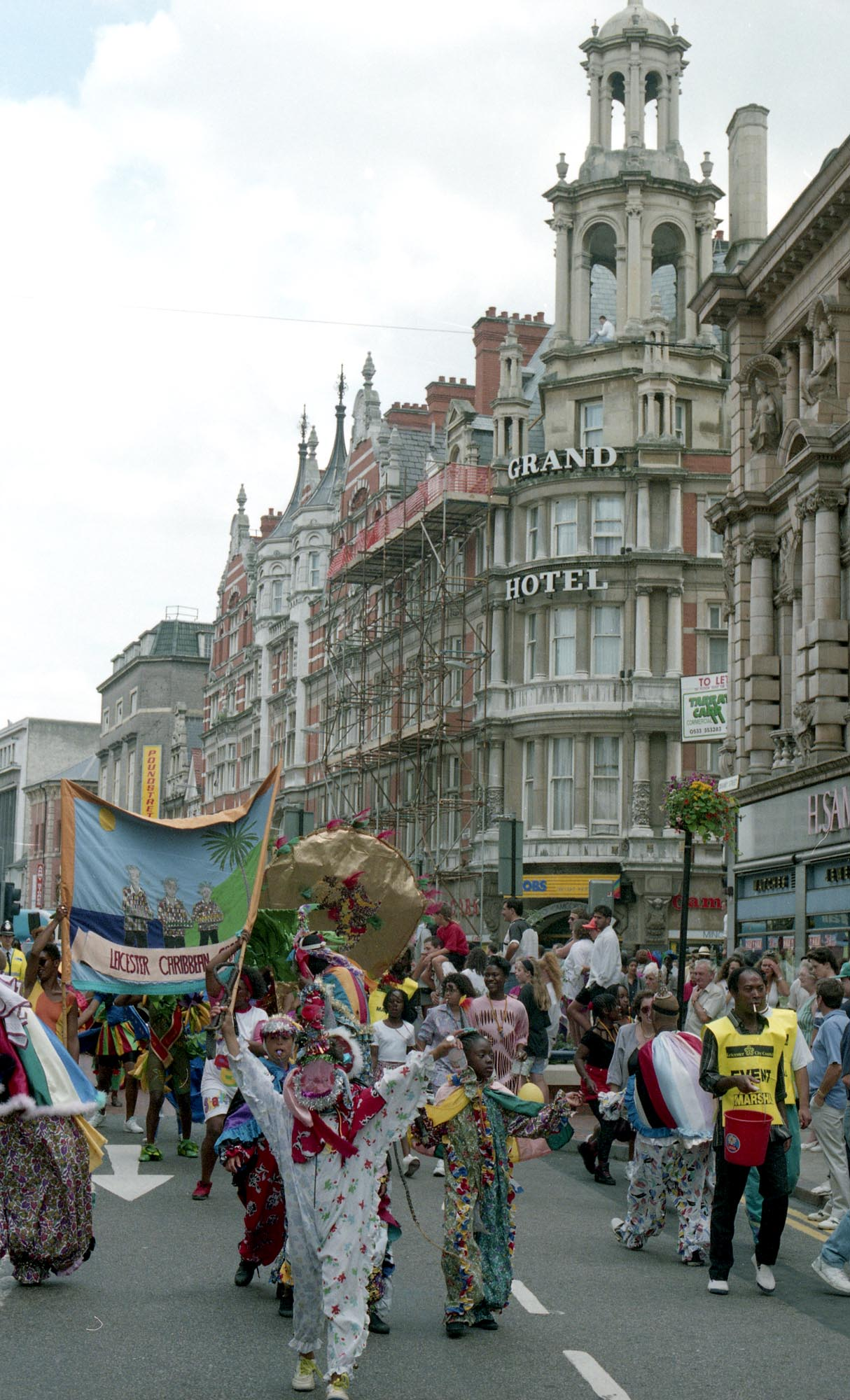Many roads are closed for the Carnival Parade, seen here on Granby Street in 1992 -