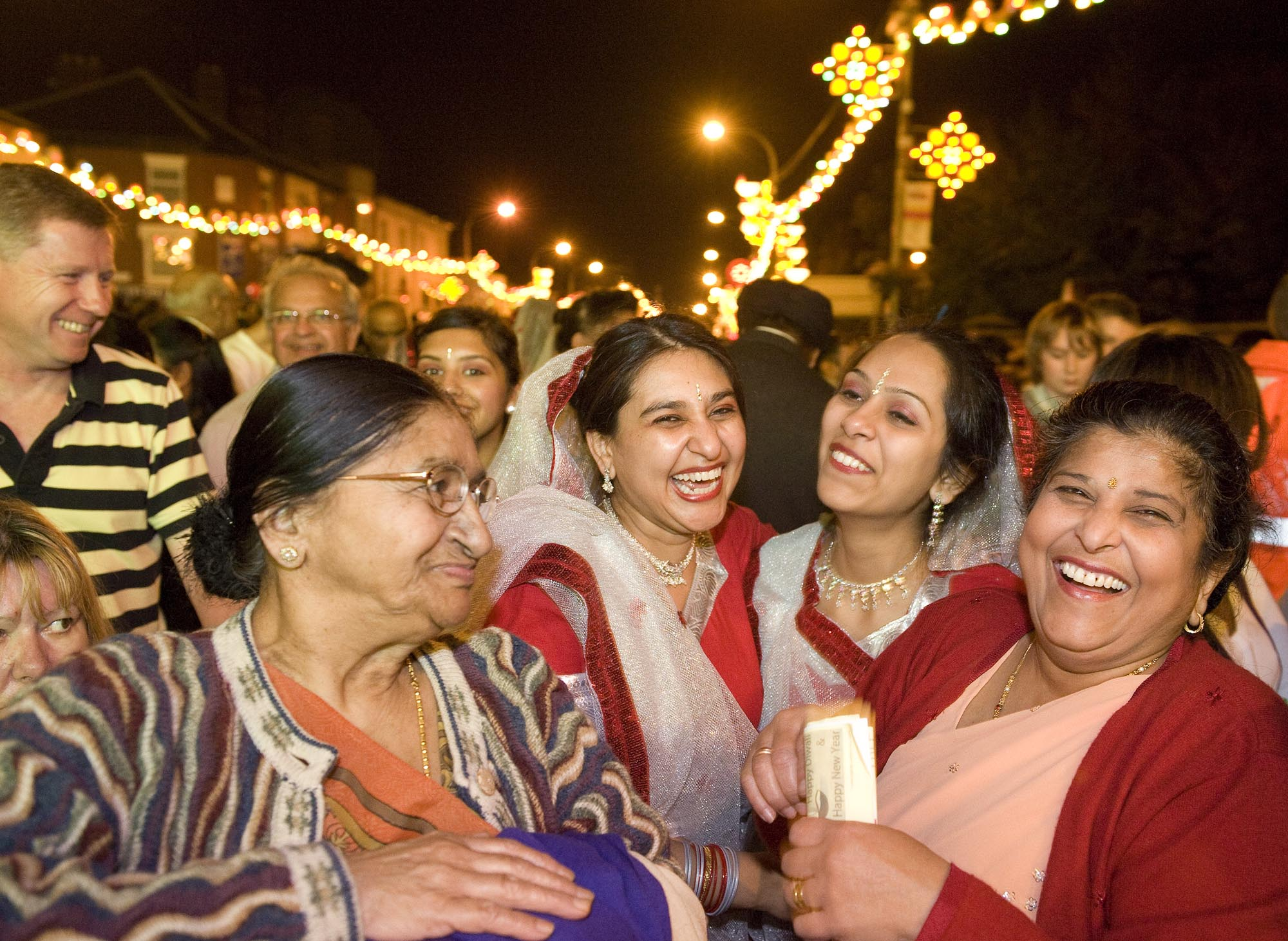 Enjoying the Diwali Lights switch on celebrations -