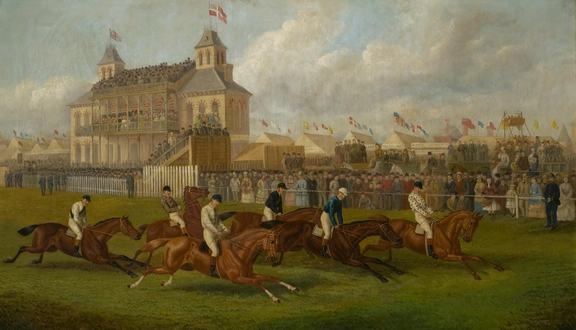 A Horse Race in Victoria Park by EB Herbert, 1874. Oil on canvas -