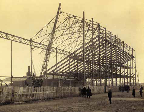 Main stand at Filbert Street being built in 1921 - Leicester City Football Club